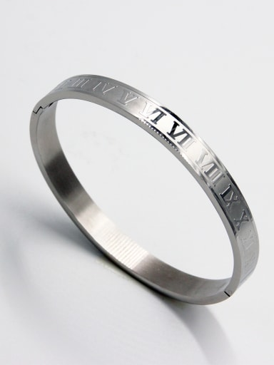 New design Stainless steel   Bangle in White color  63MMX55MM