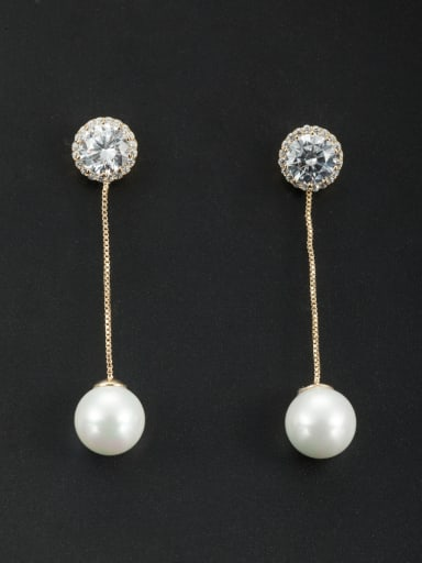 Model No 1000001391 Fashion Gold Plated Round Drop drop Earring