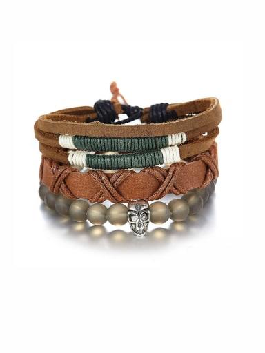 A Zinc Alloy Stylish Beads Bracelet Of Charm  PU