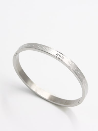 Stainless steel  White Bangle  59mmx50mm