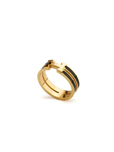 Model No 1000003838 Gold color Gold Plated Stainless steel  Ring