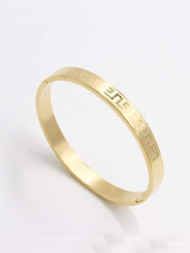 Gold color Stainless steel   Bangle   63MMX55MM