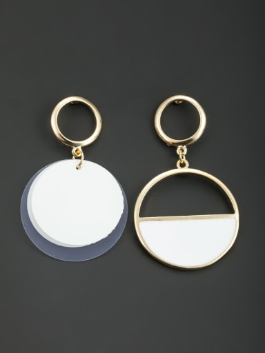 Model No M0607010-002 Multicolor Round Drop drop Earring with Gold Plated Acrylic