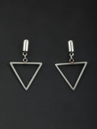 White Triangle Drop drop Earring with Stainless steel