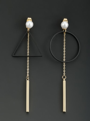 Gold Plated Round Pearl Drop drop Earring