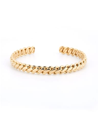 Gold Plated Titanium Fringe Bangle