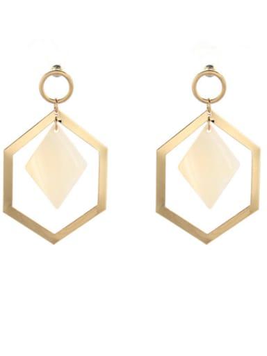 Gold Plated Zinc Alloy Geometric Gold Shell Beautiful Drop drop Earring