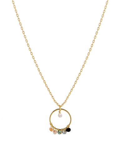 A Gold Plated Copper Stylish  necklace Of