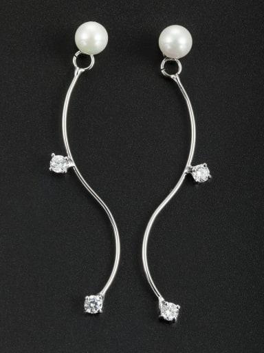 Fashion Platinum Plated chain Drop drop Earring