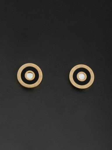 Personalized Stainless steel Gold Round Studs stud Earring