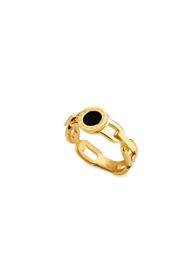 Model No 1000003813 Custom Gold chain Band band ring with Gold Plated Stainless steel