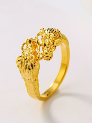 24K Gold Plated Classicial Tap Men's Small Ring