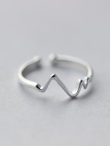 S925 Silver  ECG Free Midi Ring