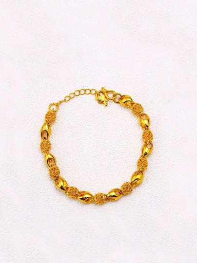Copper 24K Gold Plated Pierced Geometric Bracelet