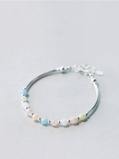 S925 Silver multi- Color Crystal Bracelet