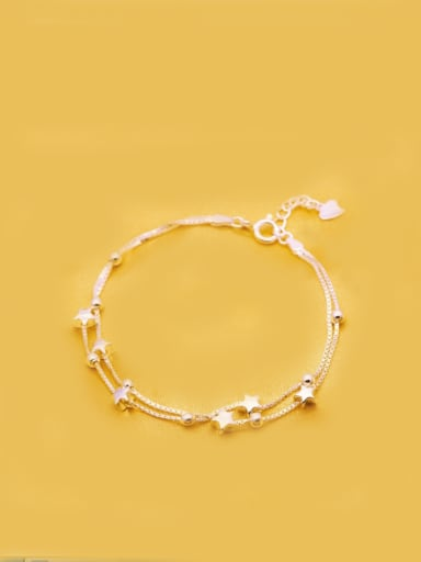 S925 Silver Rose Gold Plated Fashion Star Bracelet