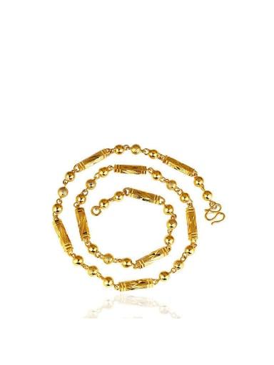Copper Alloy 24K Gold Plated Six Corner Men Necklace