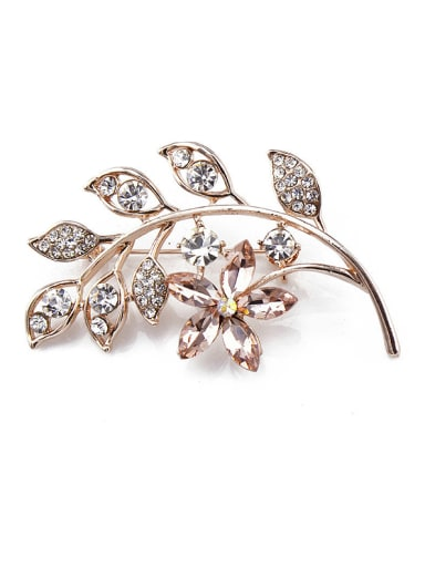 2018 2018 2018 2018 2018 2018 2018 2018 Flower-shaped Crystals Brooch