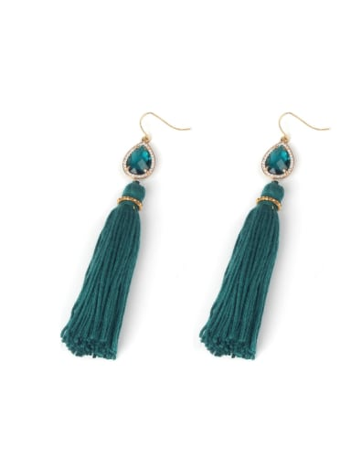 Popular Crystal Tassel Long Drop Earrings