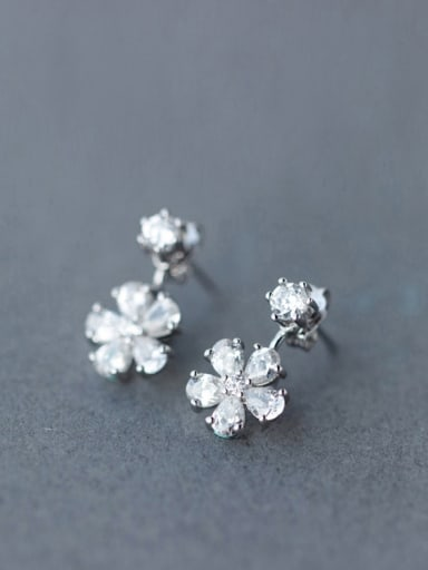 S925 Silver Sweet Cherry Diamond stud Earring