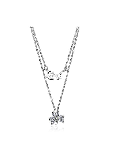 Double Chain Flower Necklace