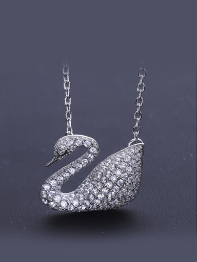 Swan Zircon Necklace