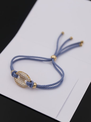 Button Shaped Rope Stretch Bracelet