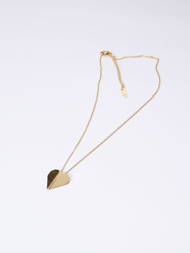 Titanium With Gold Plated Simplistic Smooth Geometric Necklaces