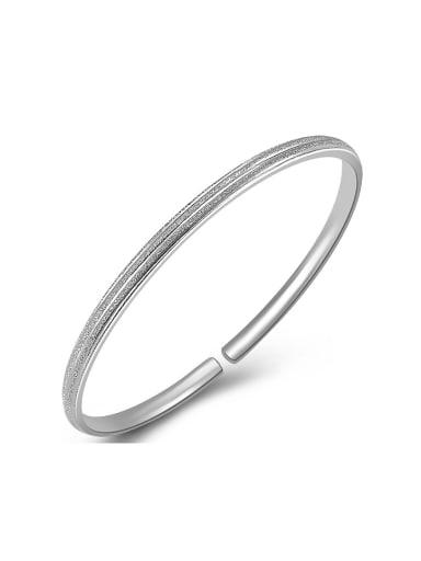 Bohemia style Simple 999 Silver Polish Opening Bangle