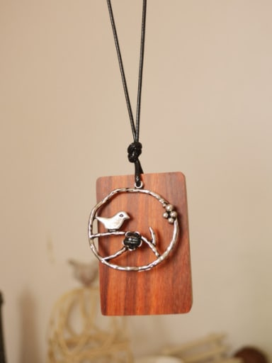Antique Silver Plated Bird Shaped Necklace