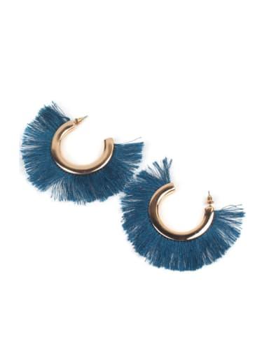 C Shaped Exaggerate Personality Women Drop Earrings
