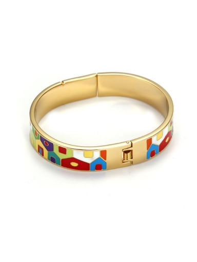 The New European And American Enamel Titanium Gold Bracelet