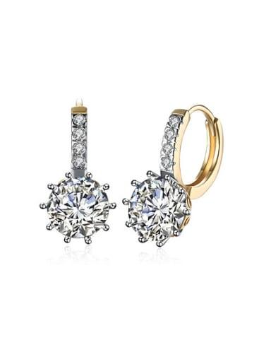 Women 18K Gold Zircon stud Earring
