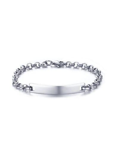 Fashionable Geometric Shaped Silver Plated Bracelet