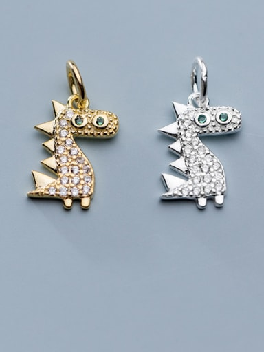 925 Sterling Silver With Cubic Zirconia Personality Animal  Dinosaur Charms