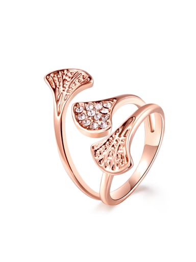 Elegance Rose Gold Plated Rhinestone Ring