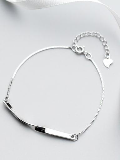 Women Creative Geometric Shaped S925 Silver Bracelet
