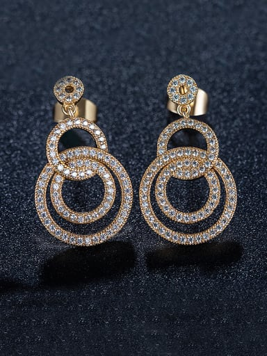Number Zircon Chandelier earring