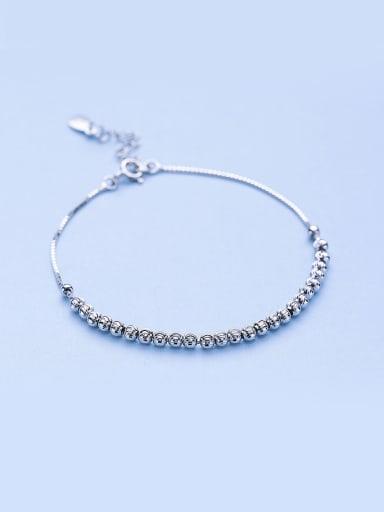 Women  925 Silver Bead Bracelet