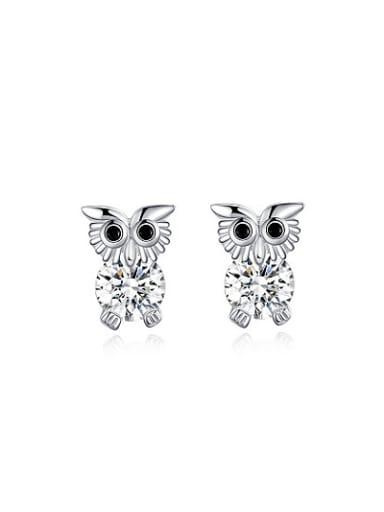 Cue AAA Zircon Owl Shaped Stud Earrings