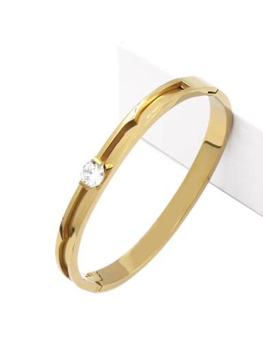 Simple Fashion Classical Zircons Titanium Bracelet