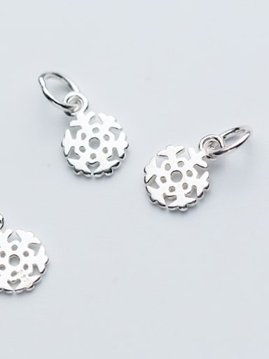 925 Sterling Silver With Silver Plated Trendy snowflake Charms