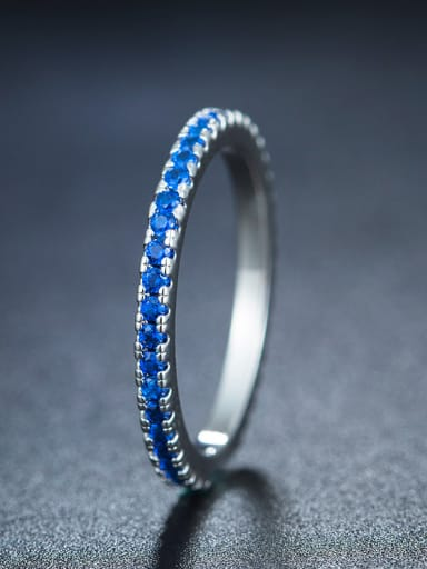 Blue Geometric Ring