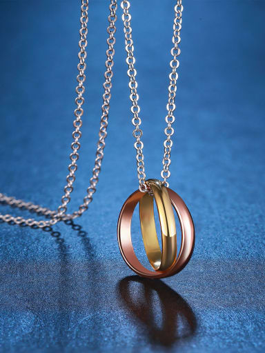 Dual Color Silver Necklace