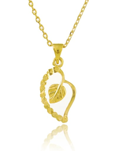 Fashion 24K Gold Plated Heart Shaped Copper Necklace
