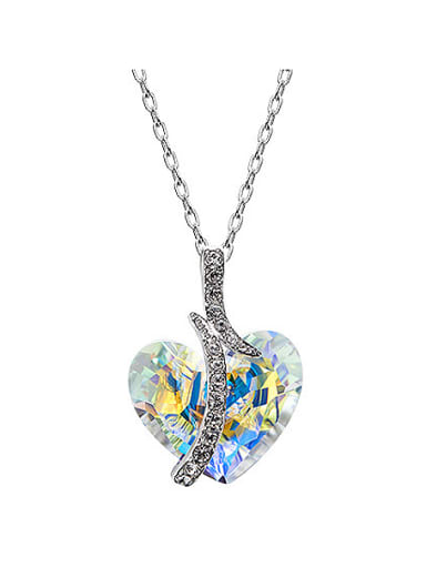 2018 2018 2018 2018 2018 2018 2018 Heart-shaped Crystal Necklace