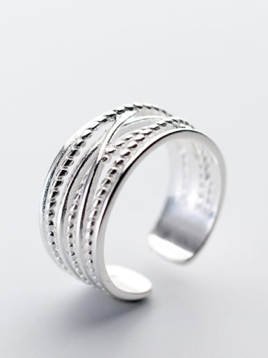 925 Sterling Silver With Platinum Plated Personality free size Rings
