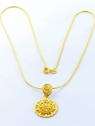 Delicate 24K Gold Plated Round Shaped Women Necklace