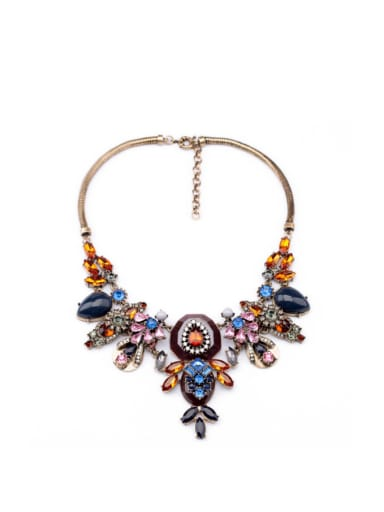 Exaggerate Colorful Flower Alloy Necklace