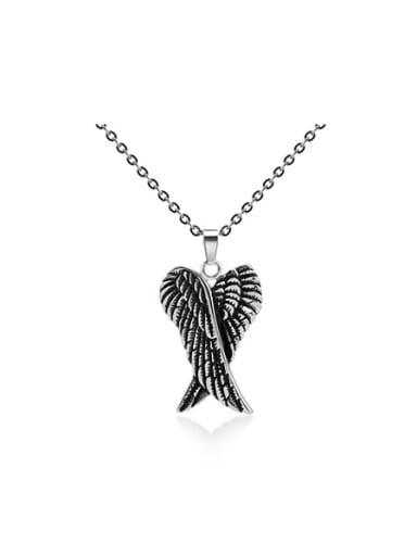 Retro Angel Wings Necklace